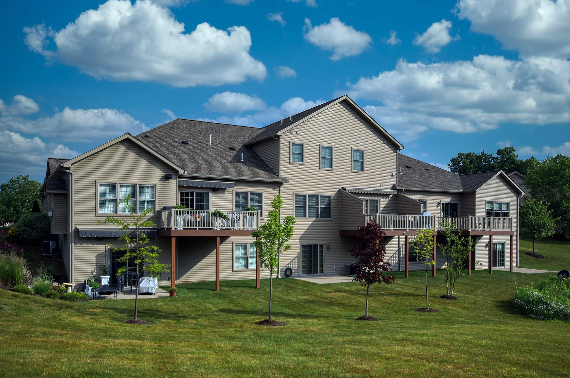 Stonebrook Whispering Woods Erie PA Renaud Peck Triplex New Home Build