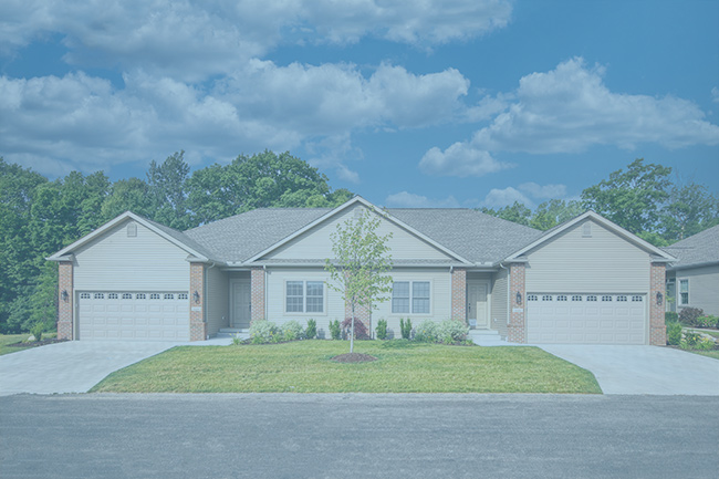 Stonebrook-Whispering-Woods-Erie-PA-Renaud-Peck-duplex---2-Front-New-Home-Build-blue